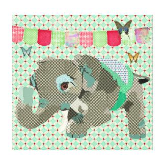 Lil' Lucky Elephant Art Canvas Canvas Print