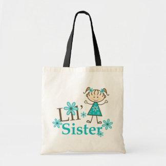 Lil Sister Stick Figure Girl Tote Bag