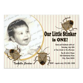 Lil Stinker 1st Birthday 13 Cm X 18 Cm Invitation Card