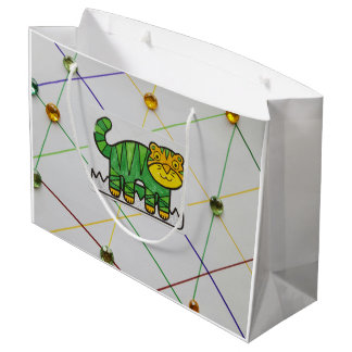 LIL TIGER DOUBLE SIDED SHOPPING BAG