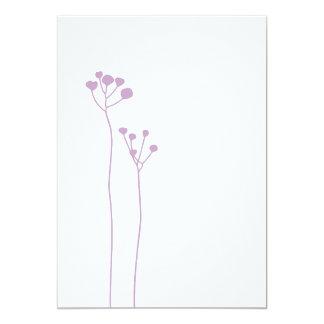 Lilac 13 Cm X 18 Cm Invitation Card