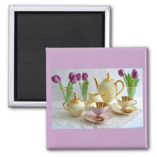 Lilac Afternoon Tea Fridge Magnet Favour