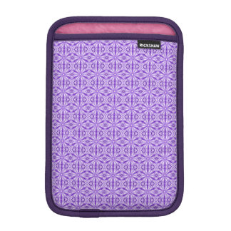 Lilac and Medium Purple Fractal Pattern iPad Mini Sleeve