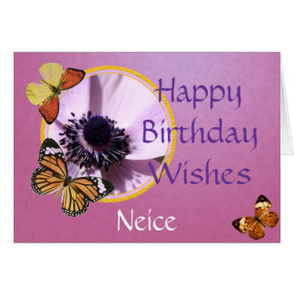 Lilac Anemone Greeting Card