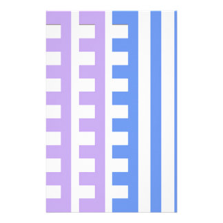 Lilac Blue Combs Tooth Stationery