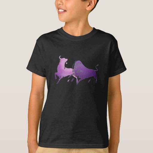 Lilac Bullfight Isolated T Shirts
