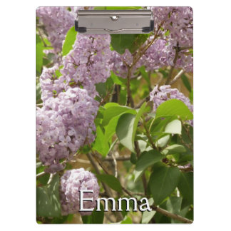 Lilac Bush Beautiful Purple Spring Flowers Clipboard