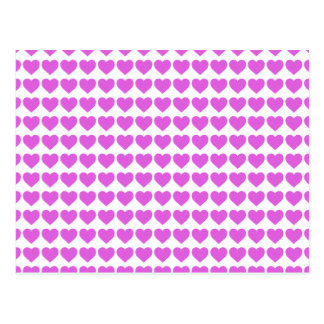 Lilac Candy Hearts on White Postcard