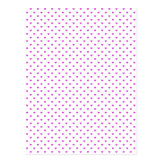 Lilac Candy Polkadot Hearts on White Postcard