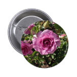 Lilac Colored Rose Pinback Button