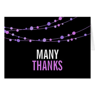 Lilac Confetti Garland Thank You Cards