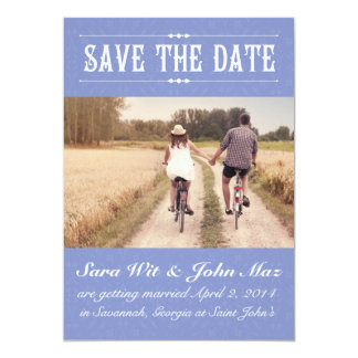 Lilac Damask Save the Date 5x7 Paper Invitation Card