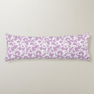 Lilac Elegant Damask Body Cushion