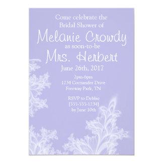 Lilac Floral Bridal Shower Inviation 13 Cm X 18 Cm Invitation Card