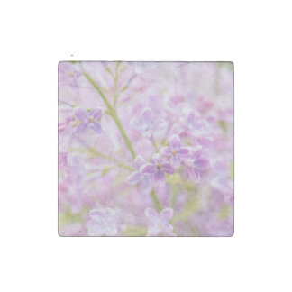 Lilac Flowers Mist Stone Magnet