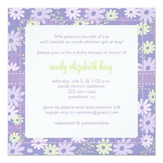 Lilac ~ Garden baby shower 13 Cm X 13 Cm Square Invitation Card