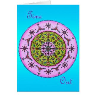 Lilac Green Floral Mandala Greeting Card