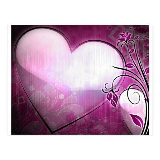 Lilac Heart Postcard