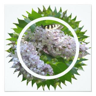 """Lilac Invitation 5.25"""" Square Invitation Card"""
