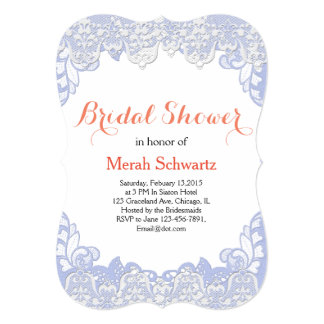 Lilac Lace Bridal Invitation | Customize