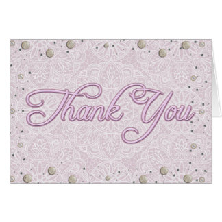 Lilac Lace Bridal Shower Thank You Card