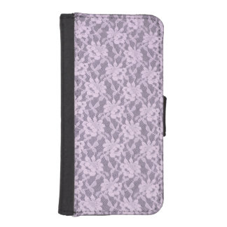 Lilac Lace iPhone 5/5s Wallet Case