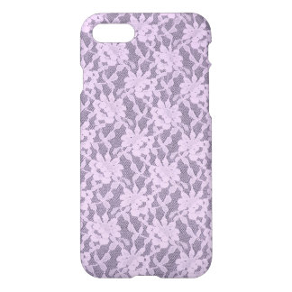 Lilac Lace iPhone 7 Glossy Finish Case