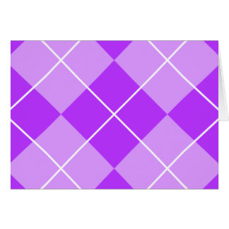 Lilac Lavender Argyle Card