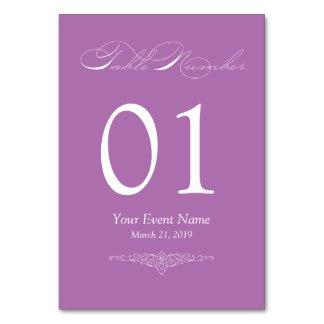 Lilac Lavender Simple & Elegant Table Card