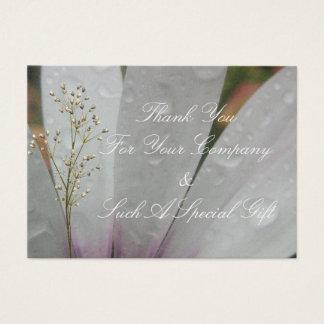 Lilac Lights wedding daisy Business Card