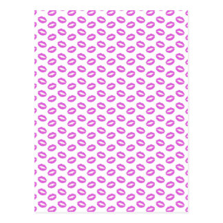 Lilac Lipstick Kisses Postcard