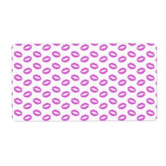 Lilac Lipstick Kisses Shipping Label