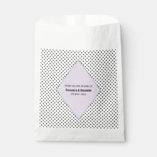 Lilac Modern Polka Dots Wedding Favour Bags