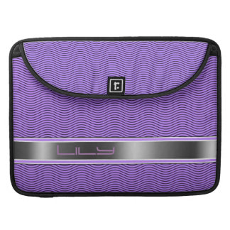 Lilac Named Waves Sleeve For MacBooks