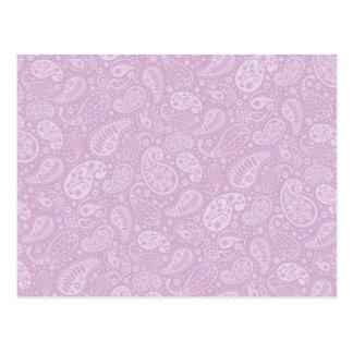 Lilac Paisley Floral Postcard