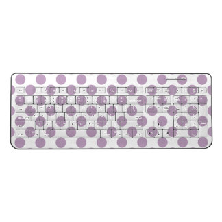 Lilac Polka Dots Wireless Keyboard