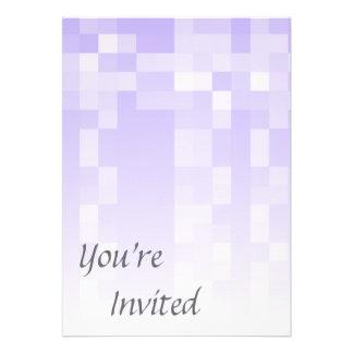 Lilac Purple and White Squares Pattern. Custom Invitation