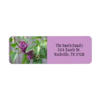 Lilac Return Address Label