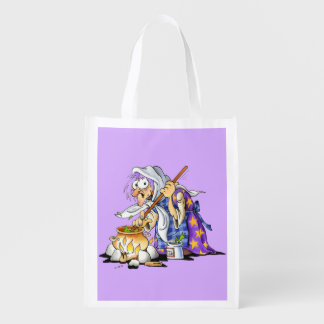 Lilac Reusable Halloween Treat Bags - Purple Witch