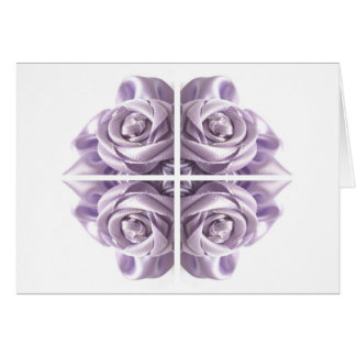 Lilac Rose Abstract Greeting Card