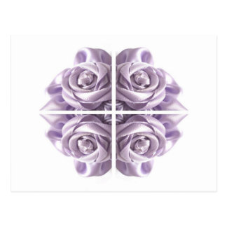 Lilac Rose Abstract Post Card