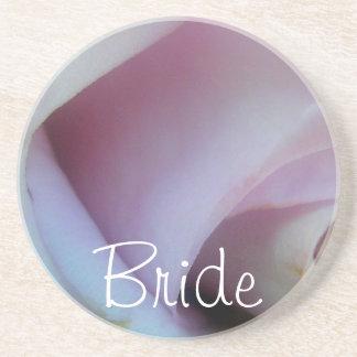 Lilac Rose Wedding Drink Coasters