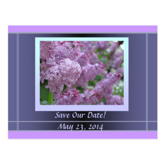 Lilac Spring Wedding Postcard