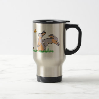 LILAC TANS IN THE GRASS STAINLESS STEEL TRAVEL MUG