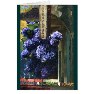 Lilac Temple Note Card