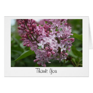 Lilac Thank You card