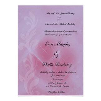 lilac wedding invitation