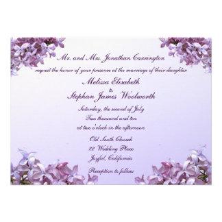 Lilac Wedding Announcement