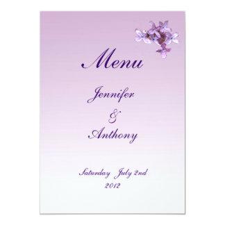 Lilac Wedding Menu Custom Invite