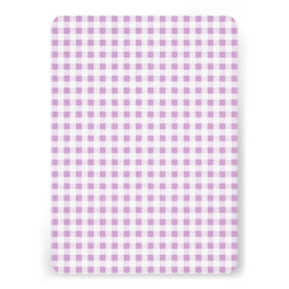 Lilac White Gingham Pattern Announcements